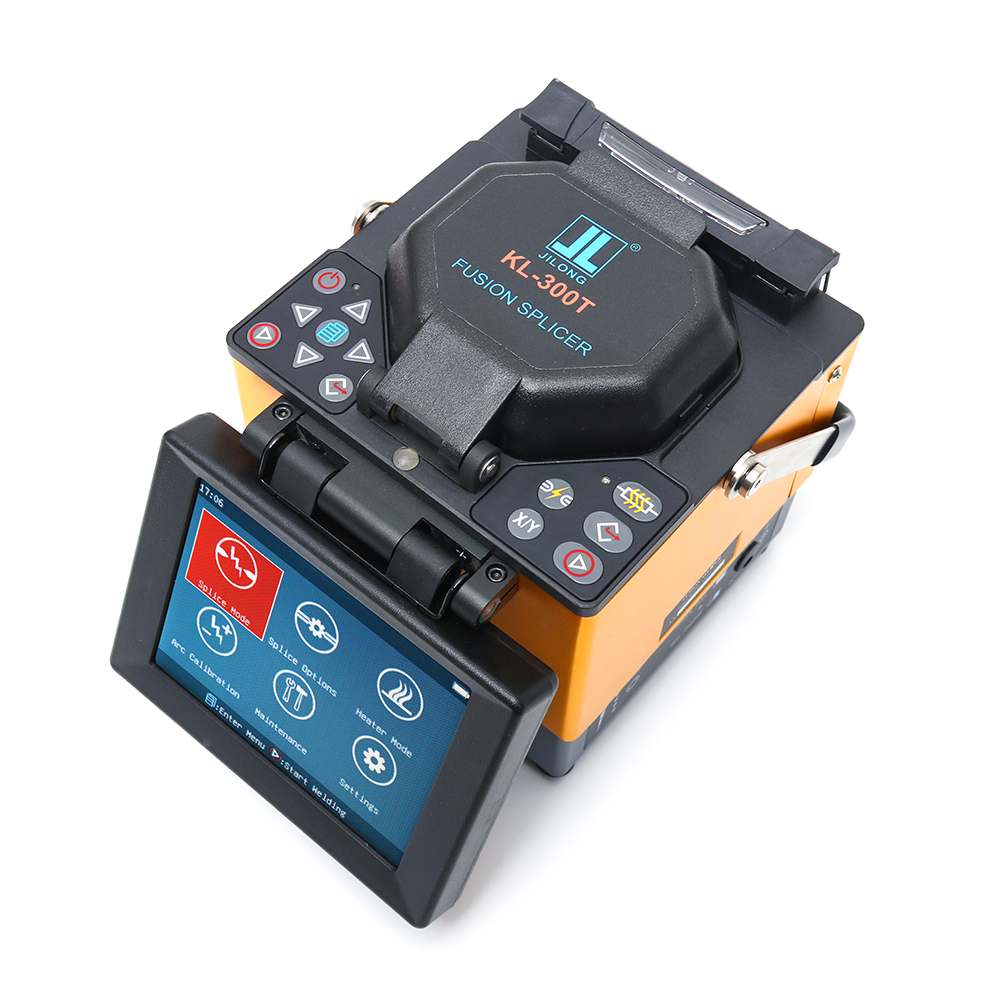 JILONG KL-300T FTTx Fusion Splicer Fusion Splicing Machine With Fiber Cleaver With Cleaver Core Aliginment Free Shipping