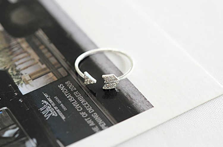 1 pc liga de zinco ouro/prata cor escolher duas jóias de moda ajustável midi anel de seta do cupido feminino