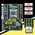 Скидка  комплект материнской платы с двумя слотами M.2 huanzhi X79  материнская плата с процессором Intel Xeon E5 2620 V2 RAM 32G (4*8G) 1600 RECC