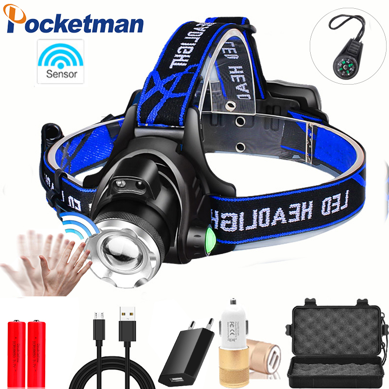Most Powerful LED Headlight Fishing Headlamp T6/L2/V6 3 Modes Zoomable Lamp Waterproof Head Torch Flashlight Head Lamp 18650