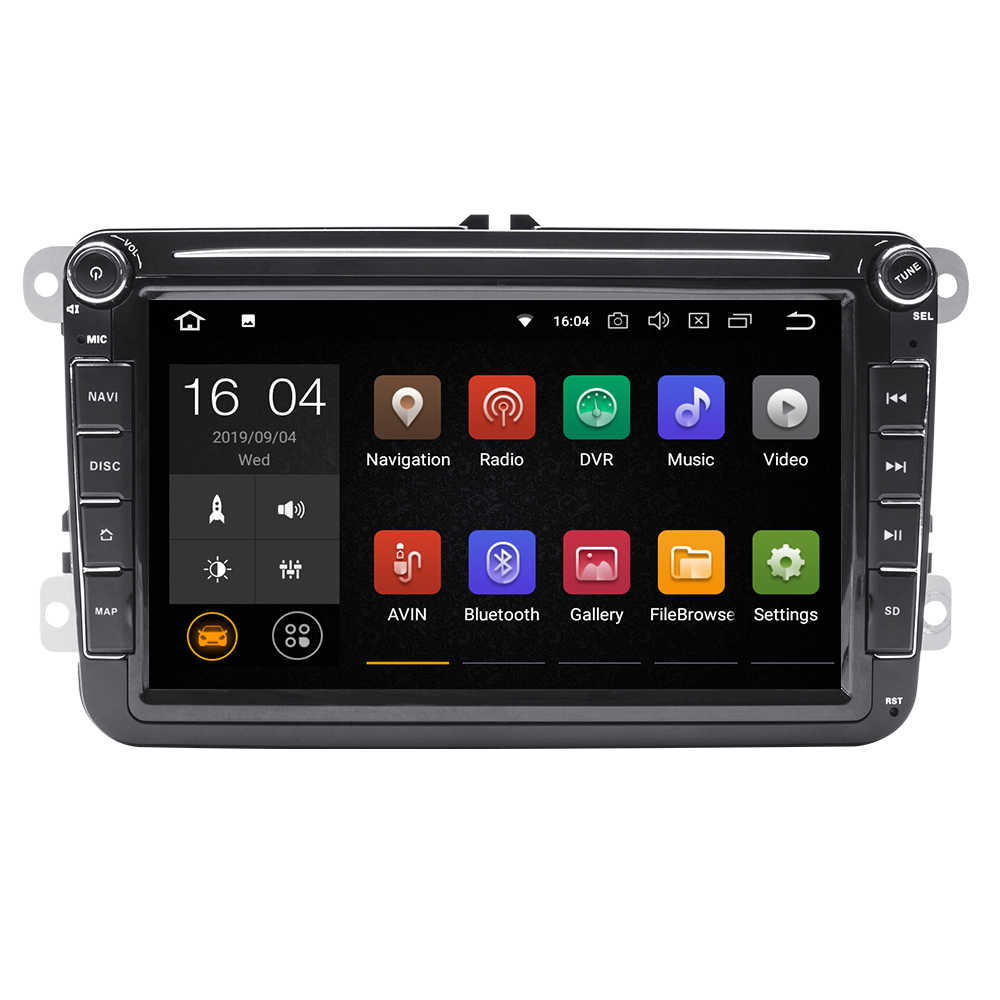 2 Din Android 9 samochodowy multimedialny nawigacja GPS dla Amarok volkswagen VW Passat B6 Skoda Octavia 2 Superb 2 Seat Leon golf 56 radio