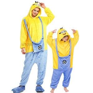 Пижама Гадкий я Дэйв миньон, комбинезон для взрослых с животными, для женщин и мужчин, новая зимняя пижама с длинным рукавом