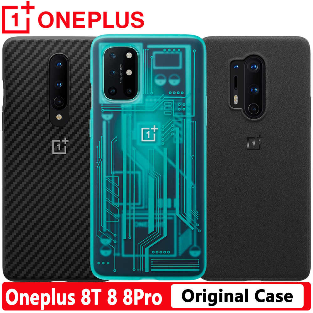 Cyan Official Sealed Oneplus 8t Case Original In2020 Carbon Bumper Oneplus 8t In2010 Clear Sandstone Bumper Carbon Case Glass Fitted Cases Aliexpress