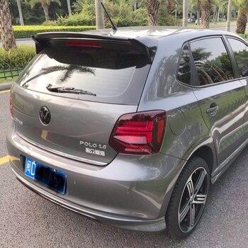 Dla VW Polo Spoiler ABS Materiał Samochód Tylne Skrzydło Podkład Kolor VW Polo Tylny Spojler Dla Volkswagen Nowy Polo Spoiler 2011-2018