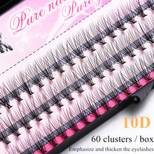 60 cluster/box Cluster wimpern, dicke Individuelle wimpern verlängerung Wimpern bunches professionelle make-up falsche wimpern