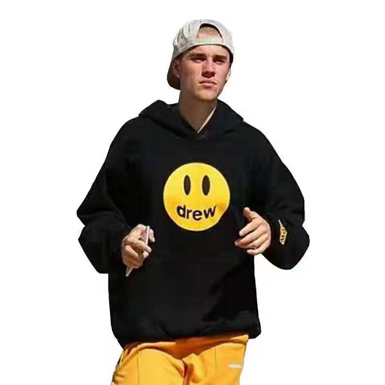 Hip Hop 2019 Winter Drew Hoodies Men Women Couples Unisex Draw Smile Face Printed Justin Bieber Hoodedis Sweatshirts