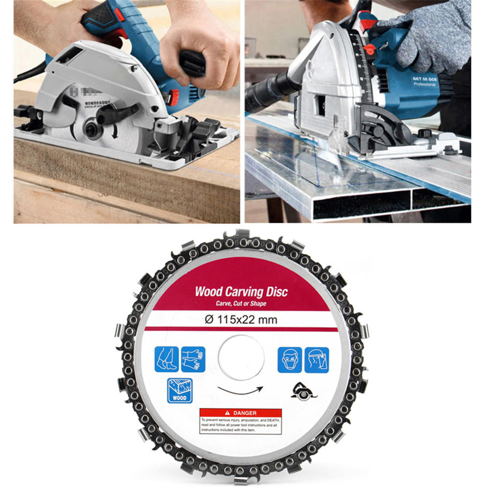 Woodworking Chain Plate Grinder Angle Milling Chain Saws Disc Wood Carving Disc Multifunctional Wood Carving Angle Turntable