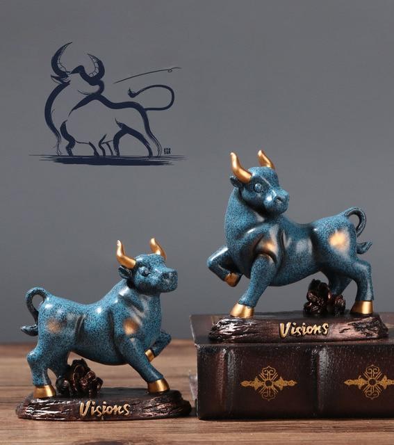 Статуэтка крупного рогатого скота бык домашний Декор Гостиная
