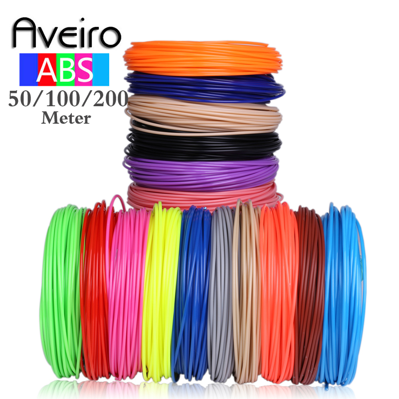 Aveiro 3D Pen With 50 100 200 Meters 1 75MM ABS Filament Threads Plastic 3 d Printer Materials Refil For Kid Drawing Toys