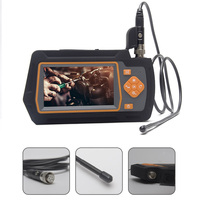 4.3inch IPS Screen Snake Camera Borescope Waterproof Rechargeable Home Drain Dual Lens USB Endoscope HD 1080P 32GB TF Card Video
