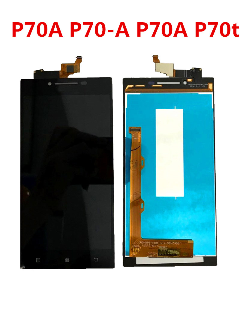 5.0 Inch For Lenovo P70 LCD Display Touch Screen Digitizer Assembly For Lenovo P70A Display With Frame P70-A P70-T LCD Replace