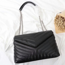Chain-Shoulder-Bag Messenger-Bag Crossbody-Bag Women Handbag Genuine-Lambskin-Leather