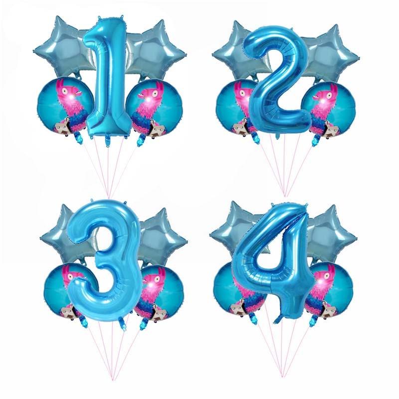 5pcs/set 18inch Lama Alpaca Pinata Foil Helium Balloons Unicorn Party Balloon Baby Shower Globos Birthday Decorations Party Toy