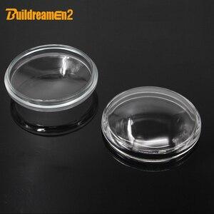 Buildreamen2 90mm Round Fog Light Transparent Glass Cover Lens For Subaru Forester Outback WRX Legacy XV Impreza Levorg BRZ