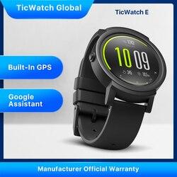 Умные часы TicWatch E , Bluetooth, GPS, спортивные часы , iOS и Android, Google Play, IP67 , водонепроницаемые, долгий срок службы батареи, многоязычные