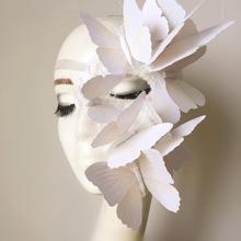 Женская маска Феникса бабочки на половину лица, аксессуары для костюмированной вечеринки для девочек, сценическая модель для подиума, реквизит для макияжа, маски