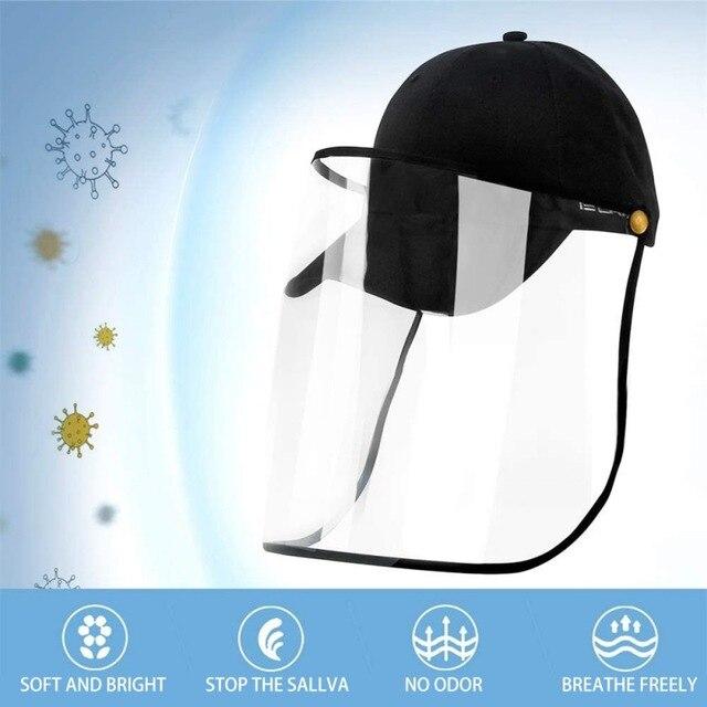 Men And Women Facial Cap Safety Face Shield Full Face Shield Outdoor Anti-fog Anti-saliva Anti-spit Anti-splash 5