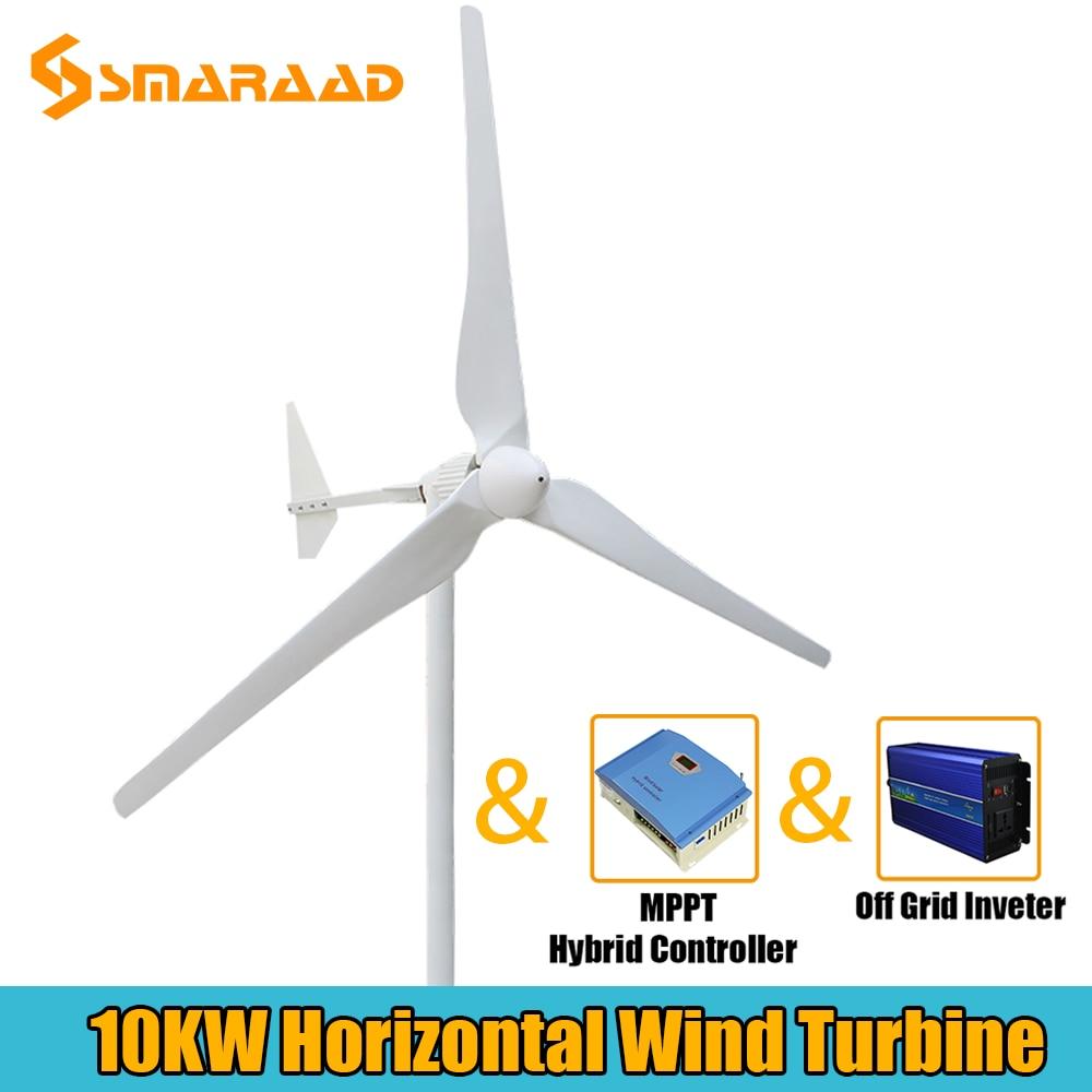 alta qualidade 1000w 5000w 10kw gerador de turbina eolica trifasica ac saida 48v 96v 110v com