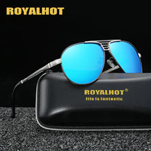 RoyalHot Polarized Oval Aloy Frame Sunglasses Men Women Driving Sun Glasses  Shades Oculos masculino Male 90090