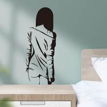 Criativo menina sexy adesivo de parede sala estar quarto fundo decoração mural arte papel decoração casa individualidade adesivos