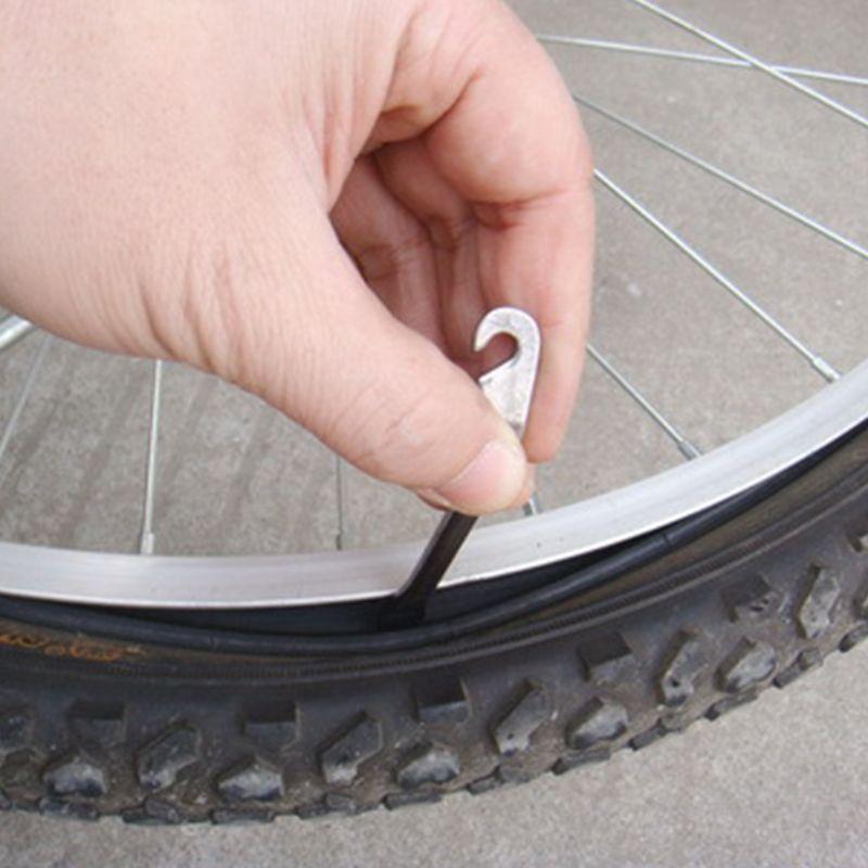 Купить с кэшбэком 12CM Cycling Bike Bicycle Metal Pry Bar Stick Tire Tyre Lever Opener Repair Tool