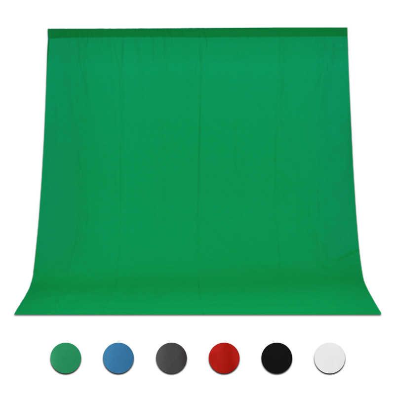 عرض ساخن على خلفيات صور من قماش موسلين غير ملوثة من القطن باللون الأخضر مع شاشة للتصوير بالاستوديو وقماش خلفية كروماكي