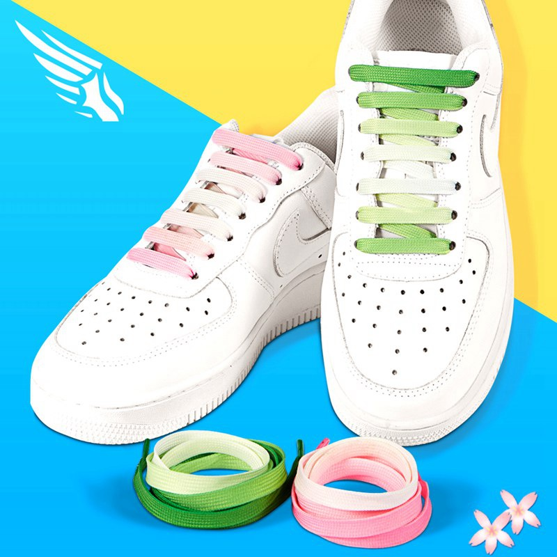 Cute Fashion Candy Color Gradient Pink Girl Students Little White Shoes Canvas Casual Shoes Laces