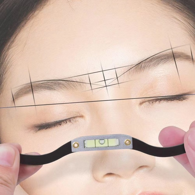 Silver Black Horizontal Bead Mapping Ruler Microblading Mapping String Marker Permanent Makeup Supplies Mapping Thread Pre-ink 4