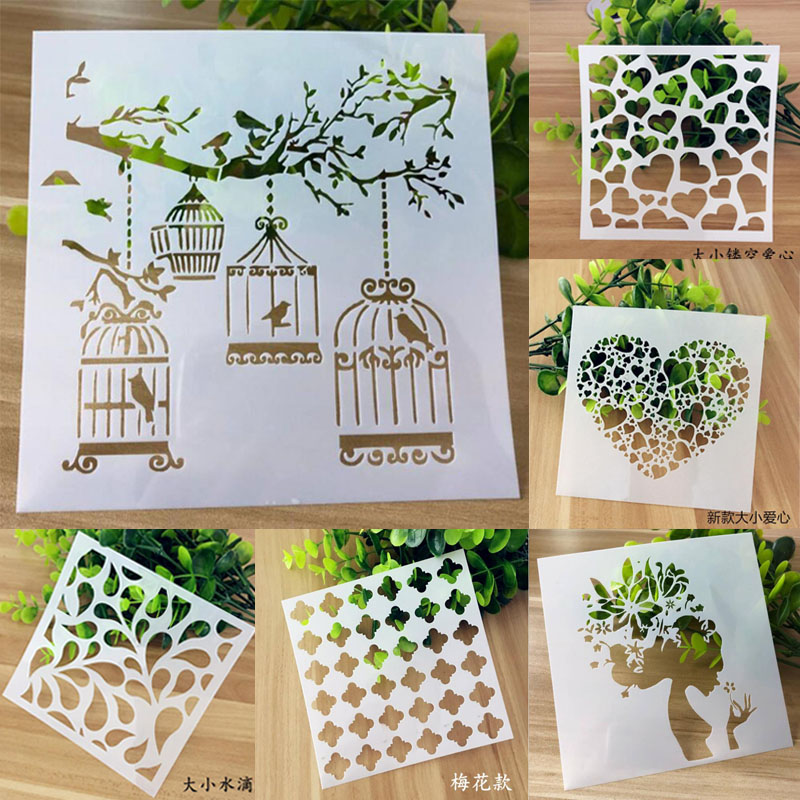 Stencils For Painting And Decoration Bullet Journal Supplies Painting Art Craft Scrapbooking Cards Album Stencil For Wall Decor