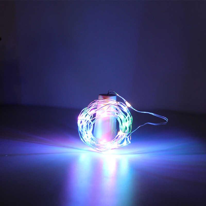 LED コルク文字列 1 メートル 2 メートル 3 メートル RGB 防水装飾ストリップ銅線ウォームホワイトパーティーギフトウェディングマニュアル装飾照明