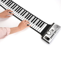 Electronic Keyboard Musical Instrument Music 61 Keys Gift USB MIDI Toys Children Recording Roll Up Piano