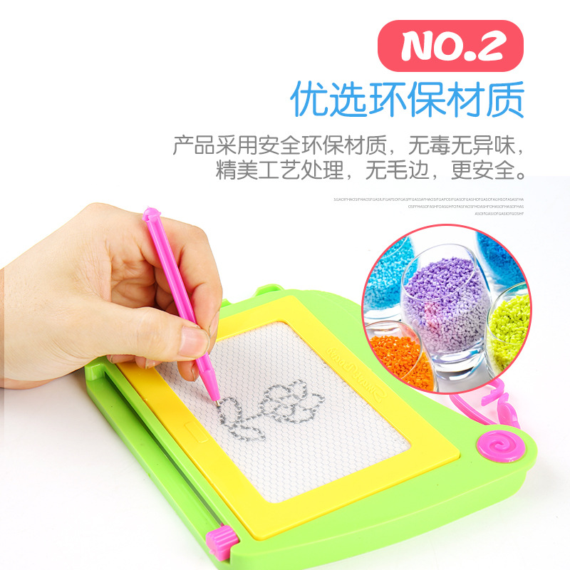 4501 Cartoon Children Early Education Writing Board Educational Black And White Drawing Board Plastic Magnetic Drawing Board Toy