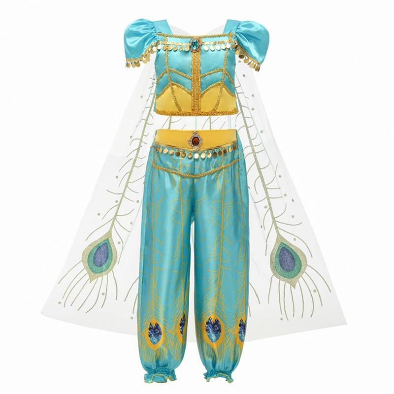 Hae8277b6ae344f28936a2035bc0fc2d03 Fancy Girl Princess Dresses Sleeping Beauty Jasmine Rapunzel Belle Ariel Cosplay Costume Elsa Anna Sofia Children Party Clothes