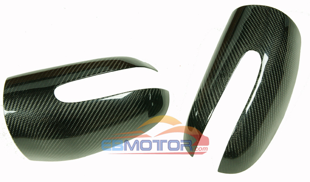Real Carbon Fiber Mirror cover 1pair for Benz C-Class W203 2001-2006 M097M 4