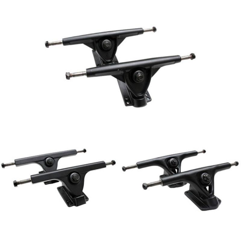 7 Inch Black Skateboard Longboard Trucks Alloy Holders Brackets Sports High-quality