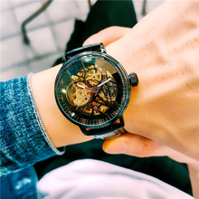 Waterproof Student Watches Leather Casual Men #8217 s Watches New Authentic Biden Watches Men #8217 s Mechanical Watches Automatic Hollow cheap Fashion Casual QUARTZ Tungsten Steel 5Bar CN(Origin) Bracelet Clasp Business