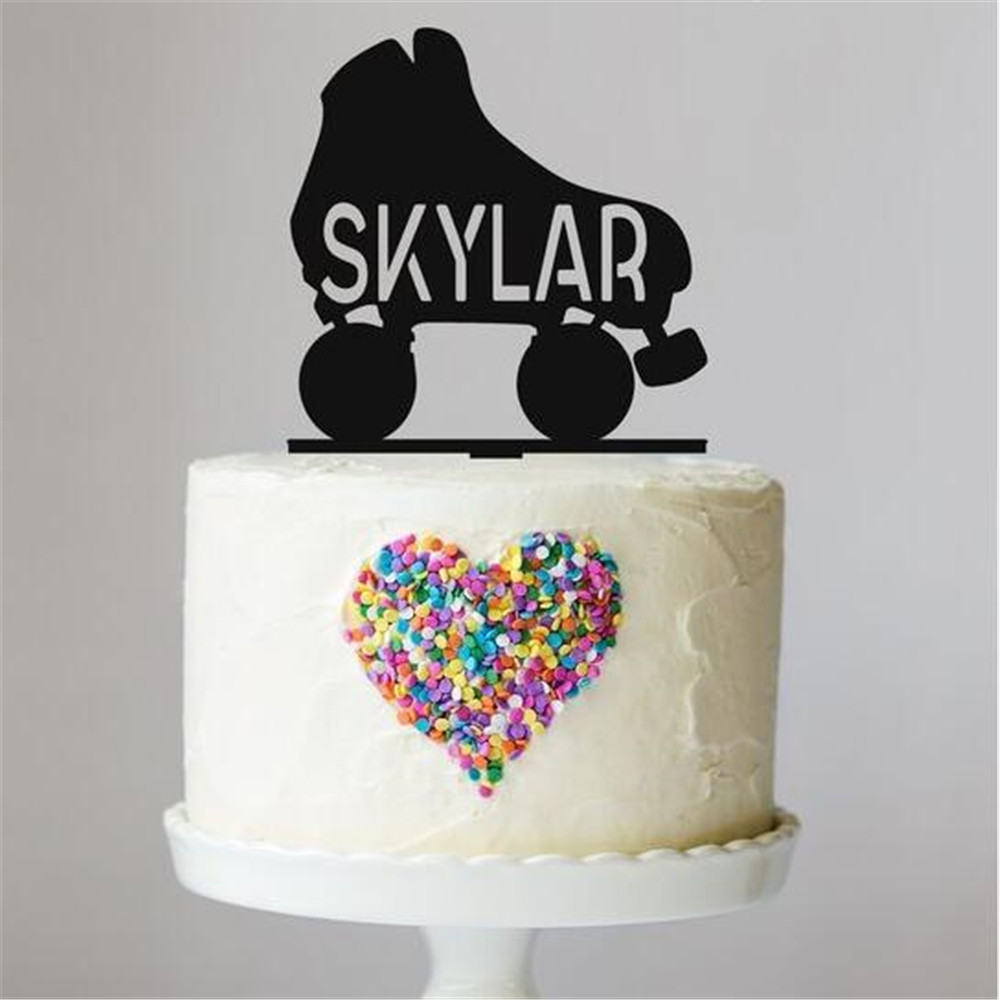 Fine Personalized Roller Skate Cake Topper Birthday Party Cake Topper Funny Birthday Cards Online Inifofree Goldxyz