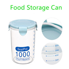 FASOTY Transparent Plastic Sealed Food Storage  Cans Container Refrigerated Tanks Kitchen Grain Boxes