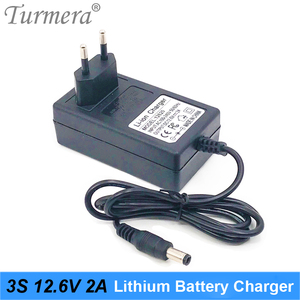 Turmera 12V 12,6 V 2A 18650 зарядное устройство постоянного тока 5,5 мм * 2,1 мм для 3S литиевая батарея для отвертки батарея с индикатором