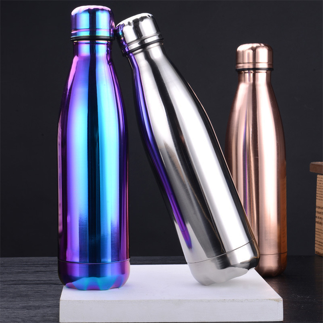 Stainless Steel Hot Cold Thermos Water Bottle Vacuum Insulated Cola Bottle Double-Wall Outdoor Travel Gym Sports Flask 1