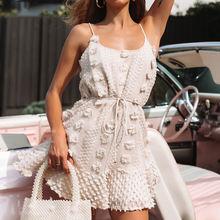 Элегантное короткое платье с цветочной вышивкой женский сексуальный
