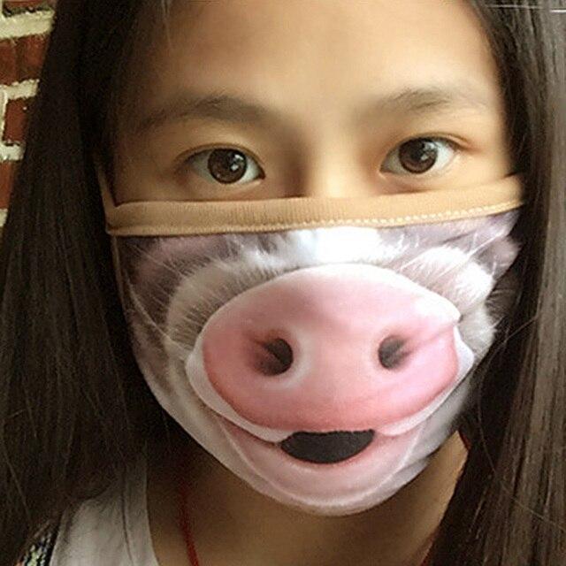 1/5/10Pcs Cartoon Cotton Dust-proof Breathable Anti Haze Protective Face Mask Anti flu Anti Virus Mask 3