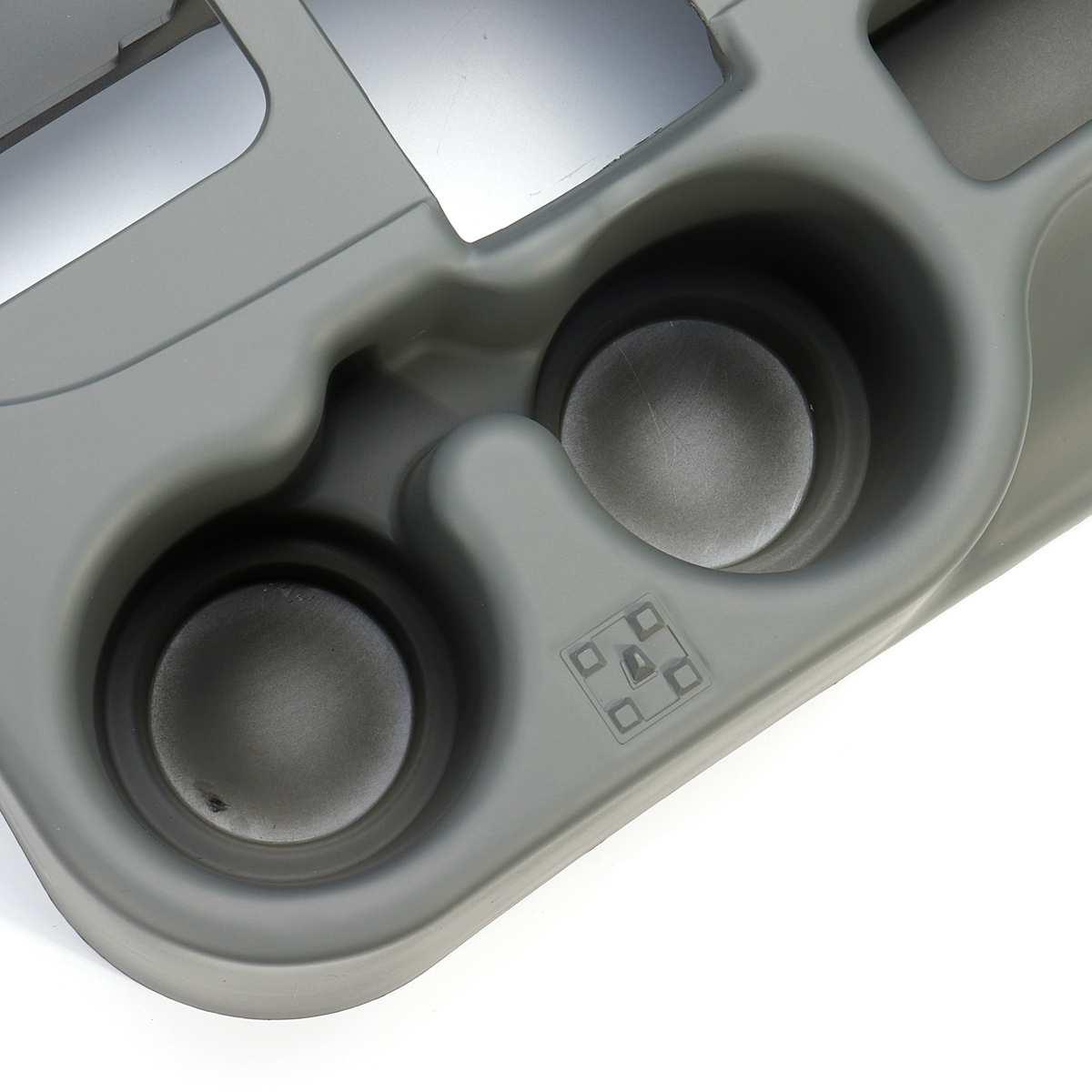 Assento de Carro Universal para a Lacuna do Telefone Caixa de Armazenamento Cinza Suporte de Copo Para DODGE RAM ADD ON 1500/2500/3500 2003 2012 acessórios Do Carro - 4