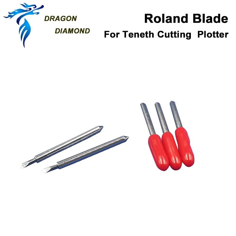 Alta calidad 5 pcs / set Roland Cutting Plotter Blade 45 grados de vinilo cortador de repuesto