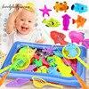 Dzieci chłopiec dziewczyna zabawka do wyławiania zestaw magnetyczny zagraj w wodę zabawki do kąpieli dla niemowląt ryby rewelacyjny prezent dla dzieci na zewnątrz zabawki interaktywne dla rodziców i dzieci