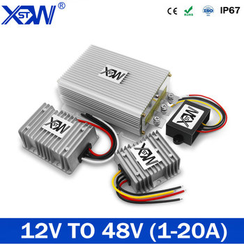 XWST Newest Waterproof 12V to 48V 3.5A 96W DC to DC Boost Converter 12V to 48V Step Up Car Power Converters Regulators CE RoHS 12v to 24v 20a 25a 30a step up dc dc converter 30 amp 720 watt 12vdc to 24vdc 30amp voltage regulator power boost module ce rohs