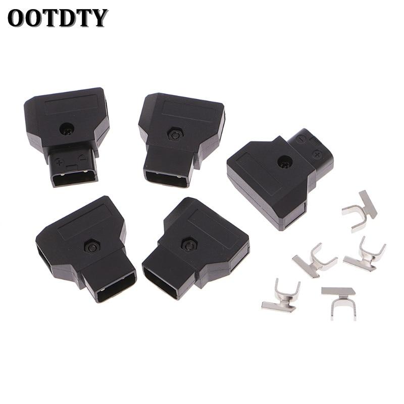 OOTDTY 5pcs ABS DTAP D Tap Plug DIY for DSLR Rig power cable V mount Anton C Battery Male Plug|Connectors| |  - title=