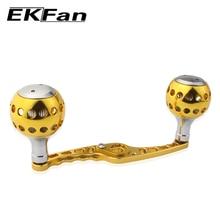 EKFan новая водная барабанная колесная приманка, литая джиг катушка высокого качества 100 мм s-образная рыболовная ручка