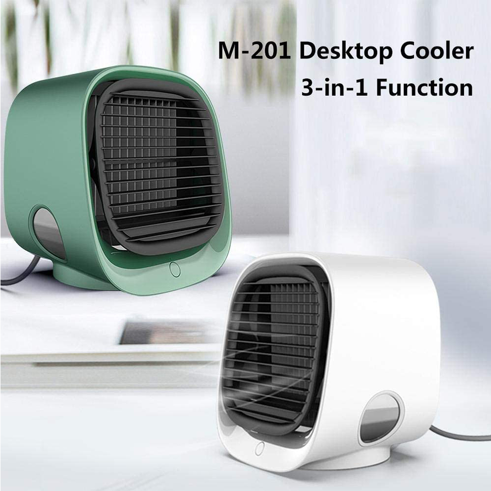 Cooling <font><b>Fan</b></font> Air Conditioning Air Conditioner Air Cooler Humidifier Purifier Portable For Home Room Office 3 Speeds Desktop Quiet image