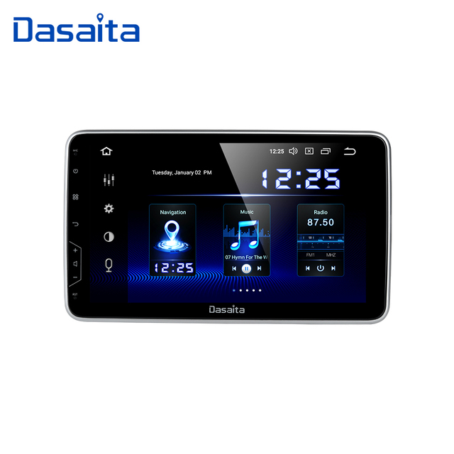 """Dasaita 2 Din Android 10 универсальное радио GPS навигация 10,2 """"IPS мульти сенсорный экран 1080P видео автомобильный стерео мультимедийная система"""